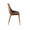 chairs, furniture, interior-design, LEATHER DIAGO CHAIR - diago leather oak dustyclay sd 100x100
