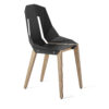 chairs, furniture, interior-design, LEATHER DIAGO CHAIR - diago leather oak graphite grey fs 3700 100x100