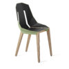 chairs, furniture, interior-design, LEATHER DIAGO CHAIR - diago leather oak mint green fs 3700 100x100