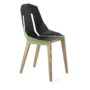 , LEATHER DIAGO CHAIR | OAK - diago leather oak mint green fs 3700 90x90