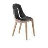 chairs, furniture, interior-design, LEATHER DIAGO CHAIR - diago leather oak palepink fs 100x100