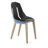 chairs, furniture, interior-design, LEATHER DIAGO CHAIR - diago leather oak pastel blue fs 3700 100x100