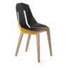 chairs, furniture, interior-design, LEATHER DIAGO CHAIR - diago leather oak sunny yellow fs 3700 100x100