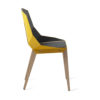 chairs, furniture, interior-design, LEATHER DIAGO CHAIR - diago leather oak sunny yellow sd 3700 100x100