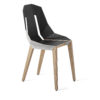 chairs, furniture, interior-design, LEATHER DIAGO CHAIR - diago leather oak white grey fs 3700 100x100