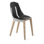 , LEATHER DIAGO CHAIR | OAK - diago leather oak white grey fs 3700 90x90