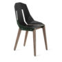 , LEATHER DIAGO CHAIR | WALNUT - diago leather walnut dark green fs 37001 90x90