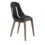 , LEATHER DIAGO CHAIR | WALNUT - diago leather walnut graphite grey fs 3700 90x90