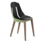 , LEATHER DIAGO CHAIR | WALNUT - diago leather walnut mint green fs 3700 90x90