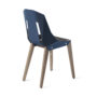 , LEATHER DIAGO CHAIR | WALNUT - diago leather walnut navy blue bs 3700 90x90