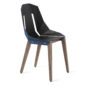 , LEATHER DIAGO CHAIR | WALNUT - diago leather walnut navy blue fs 3700 90x90