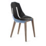 , LEATHER DIAGO CHAIR | WALNUT - diago leather walnut pastel blue fs 3700 90x90