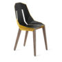 , LEATHER DIAGO CHAIR | WALNUT - diago leather walnut sunny yellow fs 3700 90x90