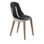 , LEATHER DIAGO CHAIR | WALNUT - diago leather walnut white grey fs 3700 90x90