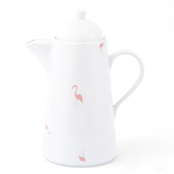 , COFFEE POT WITH FLAMINGOS - KRISTOFF FLAMING Opty imbryk 350x350