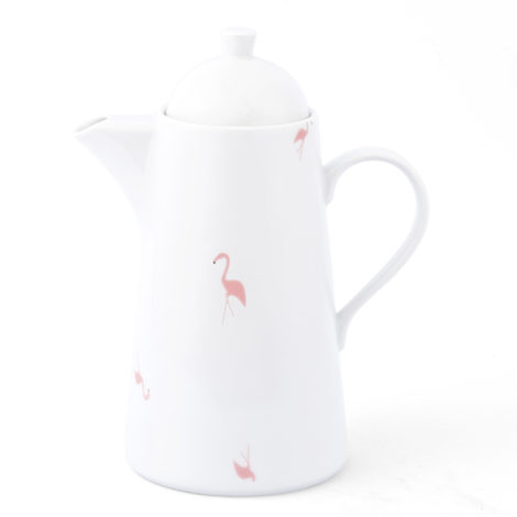 , COFFEE POT WITH FLAMINGOS - KRISTOFF FLAMING Opty imbryk 470x470