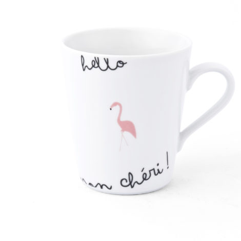 , CUP WITH FLAMINGOS - KRISTOFF FLAMING Opty kubek 470x470