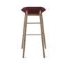 stools, furniture, interior-design, DIAGO BAR STOOL OAK - hoker diago basic 75 oak royal RAL 3005 re 100x100