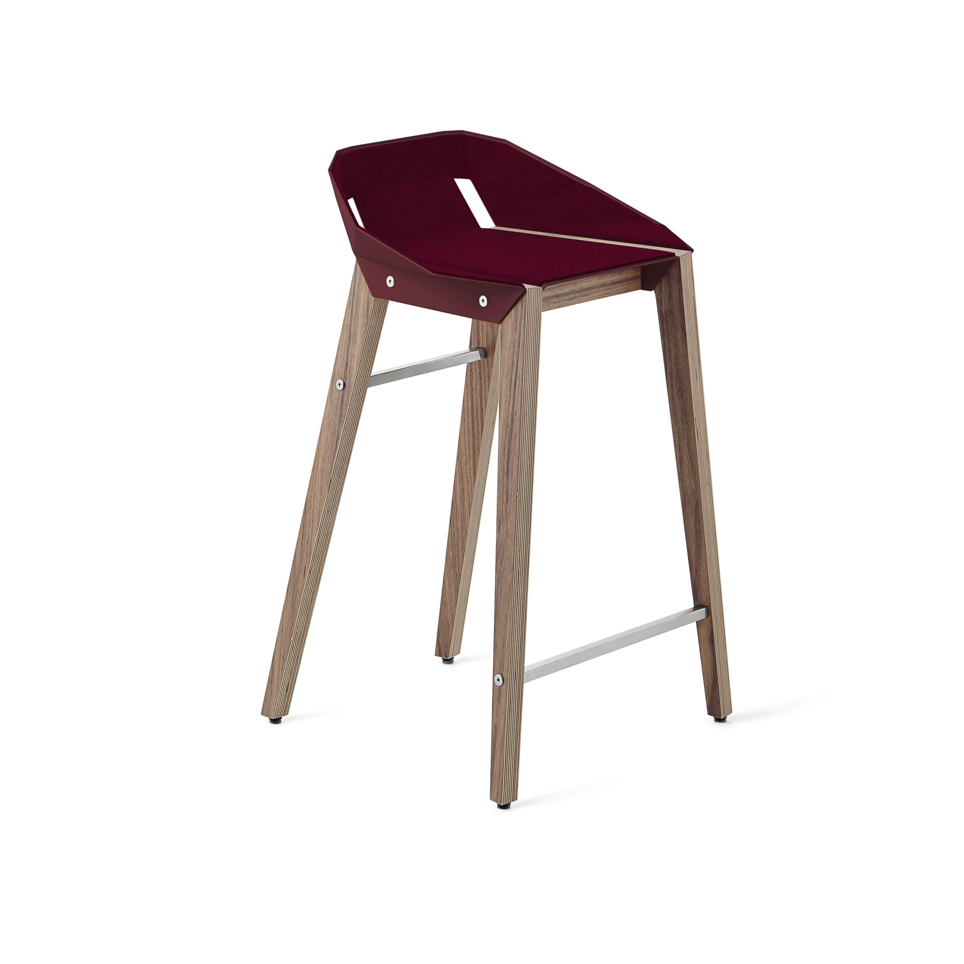 stools, interior-design, furniture, FELT DIAGO KITCHEN STOOL WALNUT - hoker diago felt 62 walnut RAL 3005 fs