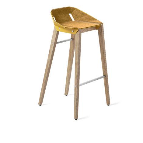 hocker, mobel, wohnen, FELT DIAGO BARHOCKER - hoker diago felt 75 oak yellow fs 470x470