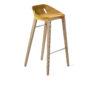 , FELT DIAGO BAR STOOL OAK - hoker diago felt 75 oak yellow fs 90x90