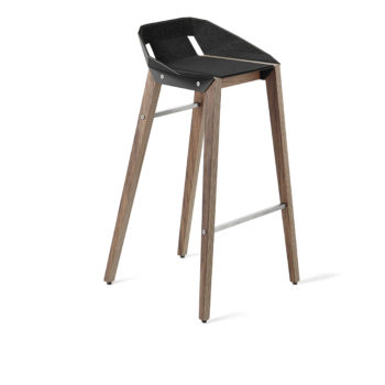 stools, interior-design, furniture, FELT DIAGO BAR STOOL WALNUT - hoker diago felt 75 walnut black fs 350x350
