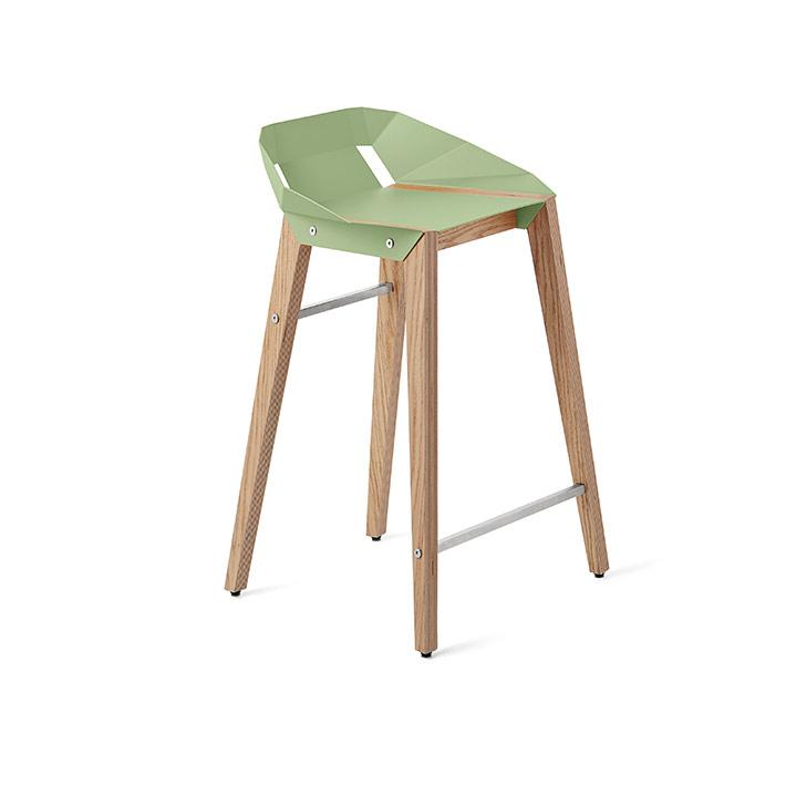 stools, interior-design, greenery-en, furniture, DIAGO KITCHEN STOOL OAK - stool diago basic 62 oak mint green fs lowres