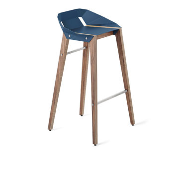 , DIAGO BAR STOOL | WALNUT - stool diago basic 75 walnut navy blue fs lowres 350x350