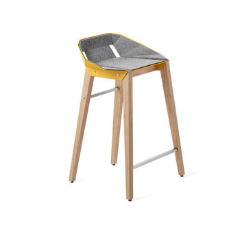 , FELT DIAGO KITCHEN STOOL | OAK - stool diago felt 62 oak sunny yellow fs lowres 350x350