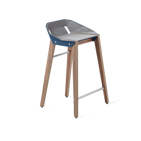 , FELT DIAGO KITCHEN STOOL | WALNUT - stool diago felt 62 walnut navy blue fs lowres 470x470
