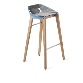 , FELT DIAGO BAR STOOL | OAK - stool diago felt 75 oak pastel blue fs lowres 350x350