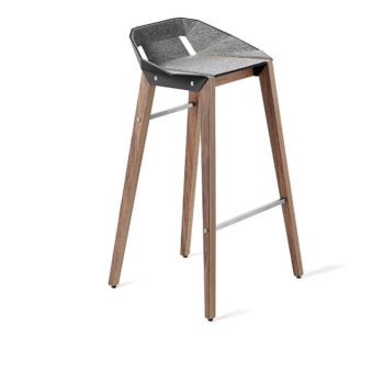 , FELT DIAGO BAR STOOL | WALNUT - stool diago felt 75 walnut deep black fs lowres 350x350