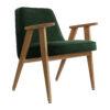 sessel, mobel, wohnen, greenery, SESSEL 366 VELVET - 366 Concept 366 Armchair W02 Velvet Bottle Green 100x100