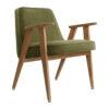 sessel, mobel, wohnen, greenery, SESSEL 366 VELVET - 366 Concept 366 Armchair W02 Velvet Olive 100x100