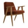 sessel, mobel, wohnen, greenery, SESSEL 366 VELVET - 366 Concept 366 Armchair W02 Velvet Red Brick 100x100