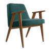 sessel, mobel, wohnen, greenery, SESSEL 366 VELVET - 366 Concept 366 Armchair W03 Velvet Ocean 100x100