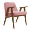 sessel, mobel, wohnen, greenery, SESSEL 366 VELVET - 366 Concept 366 Armchair W03 Velvet Powder Pink 100x100
