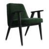 sessel, mobel, wohnen, greenery, SESSEL 366 VELVET - 366 Concept 366 Armchair W04 Velvet Bottle Green 100x100