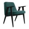 sessel, mobel, wohnen, greenery, SESSEL 366 VELVET - 366 Concept 366 Armchair W04 Velvet Ocean 100x100
