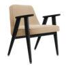 sessel, mobel, wohnen, greenery, SESSEL 366 VELVET - 366 Concept 366 Armchair W04 Velvet Sand 100x100
