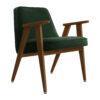 sessel, mobel, wohnen, greenery, SESSEL 366 VELVET - 366 Concept 366 Armchair W05 Velvet Bottle Green 100x100