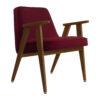 sessel, mobel, wohnen, greenery, SESSEL 366 VELVET - 366 Concept 366 Armchair W05 Velvet Merlot 100x100