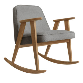 sessel, mobel, wohnen, fussbaenke, FUßBANK FOX | VELVET - 366 Concept 366 Rocking Chair W02 Tweed Grey 350x350