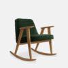 sessel, mobel, wohnen, schaukelstuehle, SCHAUKELSTUHL 366 VELVET - 366 Concept 366 Rocking Chair W02 Velvet Bottle Green 100x100