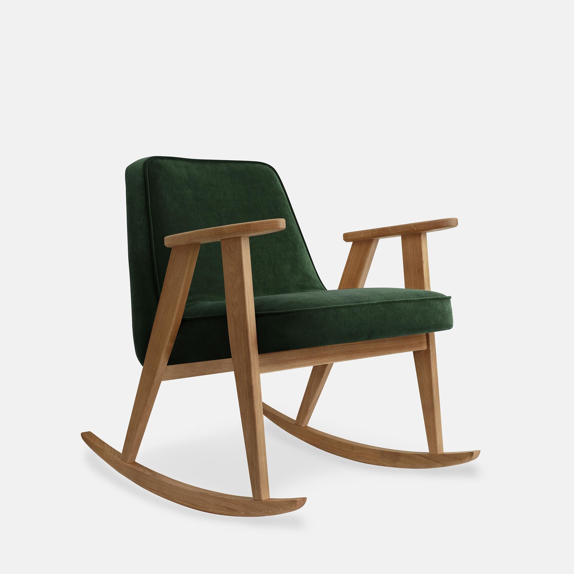 366-Concept-366-Rocking-Chair-W02-Velvet-Bottle-Green