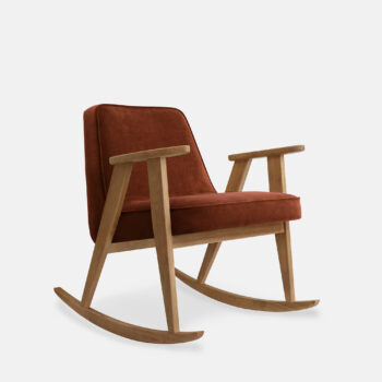 armchairs, furniture, interior-design, 366 ARMCHAIR MARBLE - 366 Concept 366 Rocking Chair W02 Velvet Red Brick 350x350