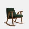 sessel, mobel, wohnen, schaukelstuehle, SCHAUKELSTUHL 366 VELVET - 366 Concept 366 Rocking Chair W03 Velvet Bottle Green 100x100