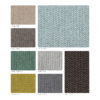 armchairs, furniture, interior-design, footrests, FOOTREST FOX | TWEED - 366 Concept Tweed palette 100x100