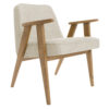 sessel, mobel, wohnen, SESSEL 366 EASY CHAIR LOFT - 366 Concept   366 armchair   Loft 01 White   Dark Oak 100x100