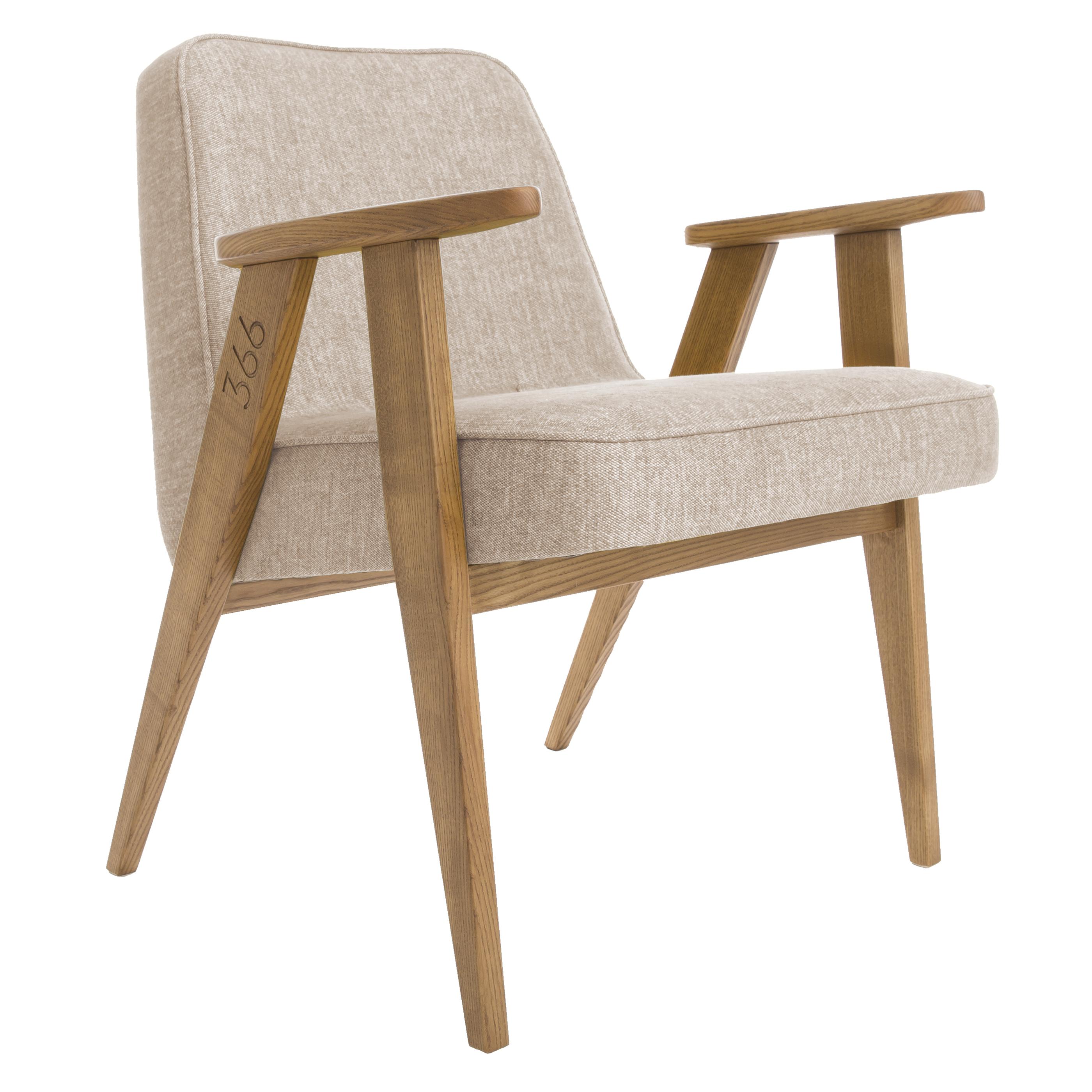 sessel, mobel, wohnen, LOUNGE SESSEL FOX I LOFT - 366 Concept   366 armchair   Loft 02 Sand   Dark Oak